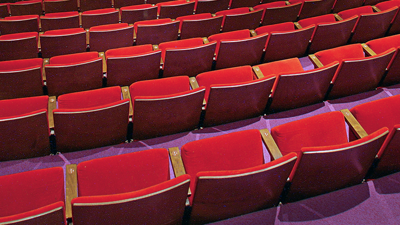 Rows of seats in Theatre 14