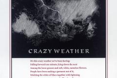 "John Ashbery broadside, ""Crazy Weather"""