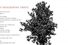 "Robert Hass broadside, ""The Problem of Describing Trees"""