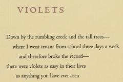"""Mary Oliver broadside, """"Violets"""""""