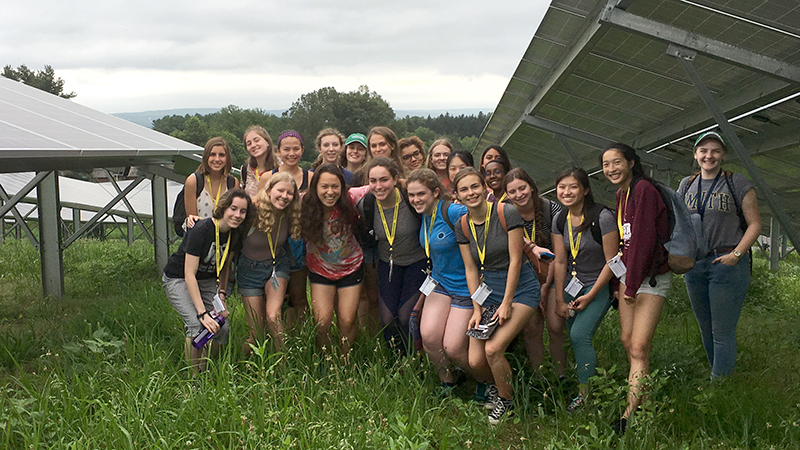 Group photo of young women participating in Field Studies program, Smith College