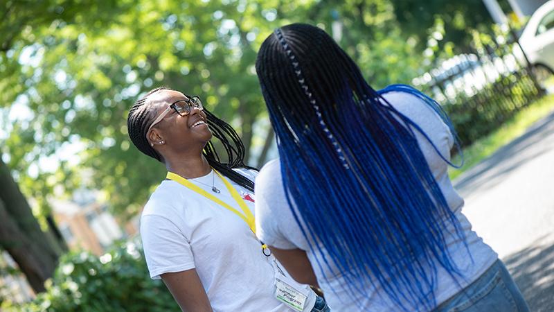 Precollege summer program students