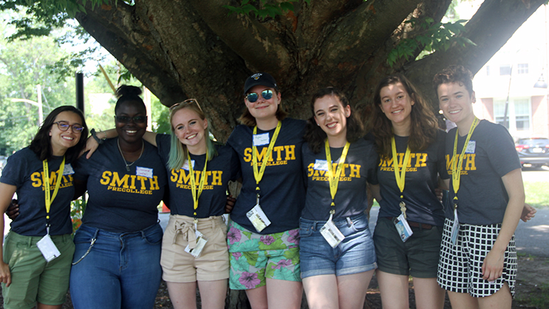 A group of Precollege Programs student employees