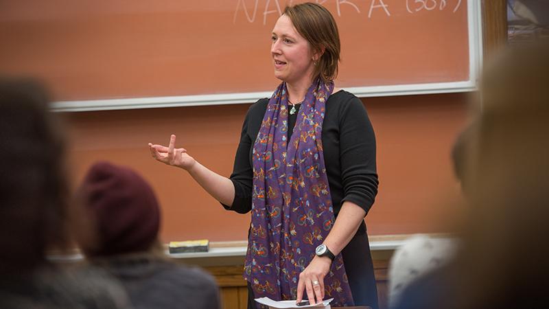 Liz Klarich teaching in the classroom