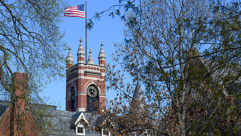 College Hall tower and clock