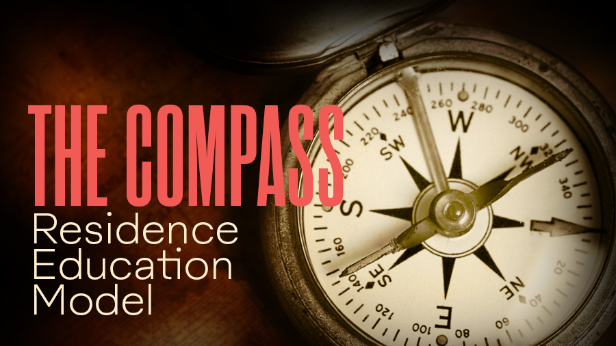 The Compass | Residence Education Model - an image of a compass accompanies the text