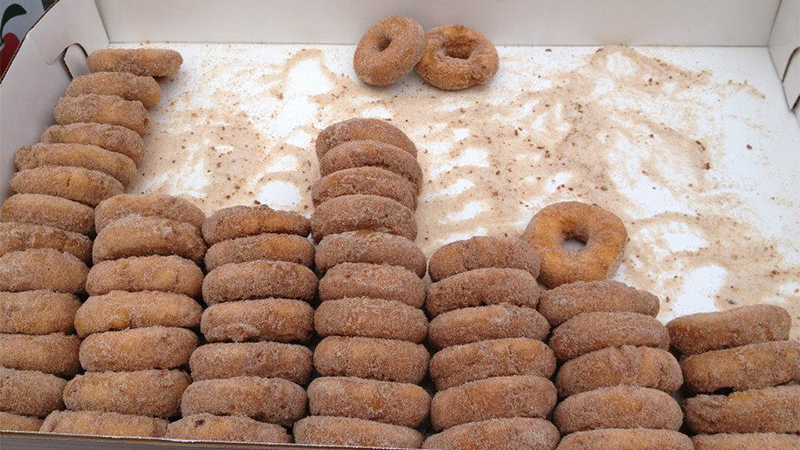 Atkins cider donuts from Staff Council cider and donuts event