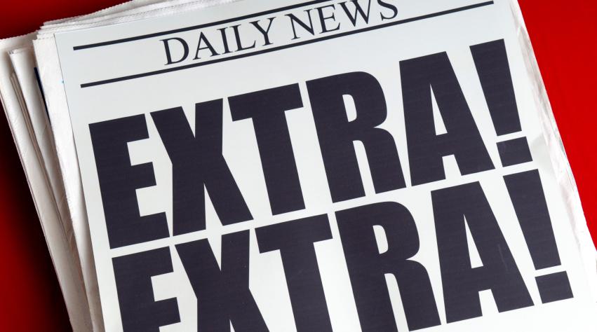 Newspaper reading: Daily News. Extra! Extra!