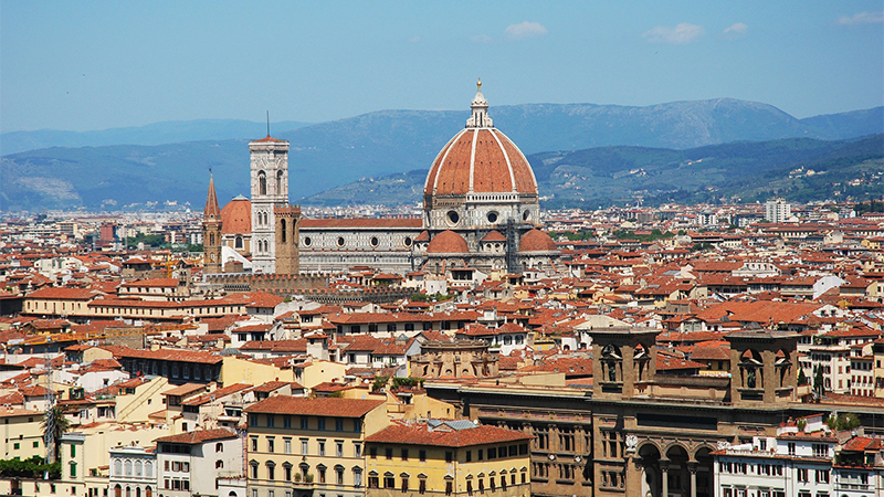 A view of the Florence skyline