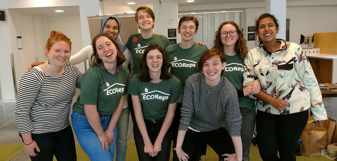 Group photo of ecoreps, Smith College