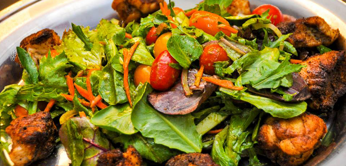Close-up picture of salad