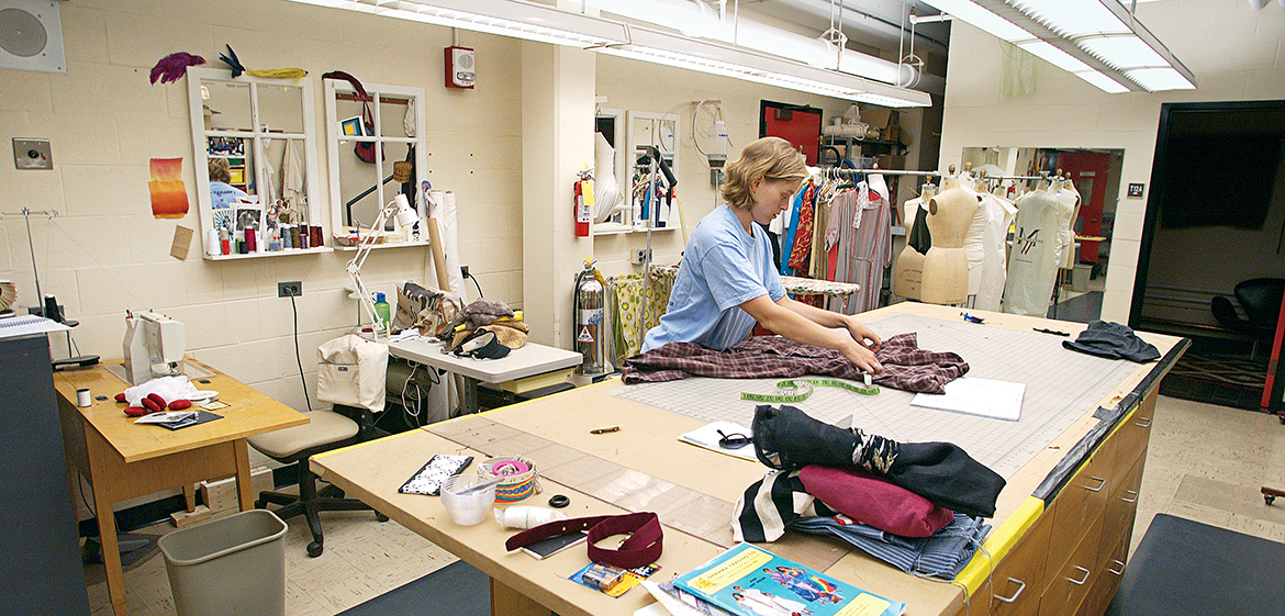 Costume shop in Mendenhall Center