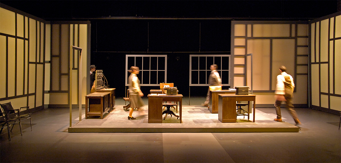 Production of Machinal in Hallie Flanagan Studio Theatre