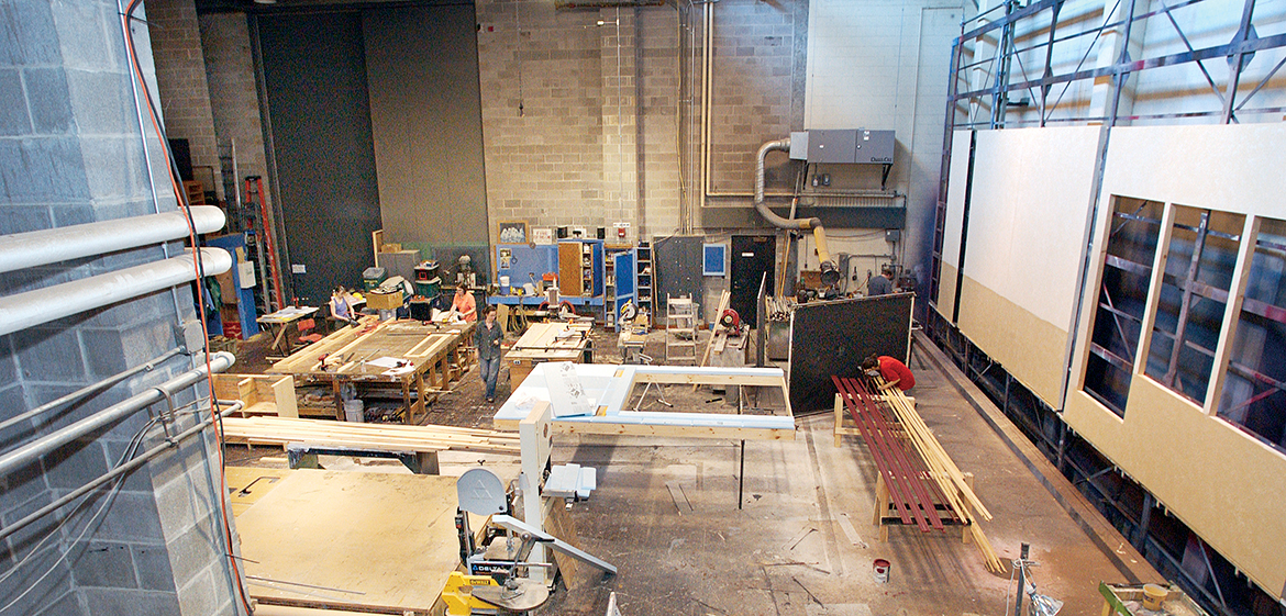 Scene shop in Mendenhall Center