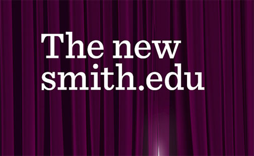 A parting curtain teasing the new Smith website
