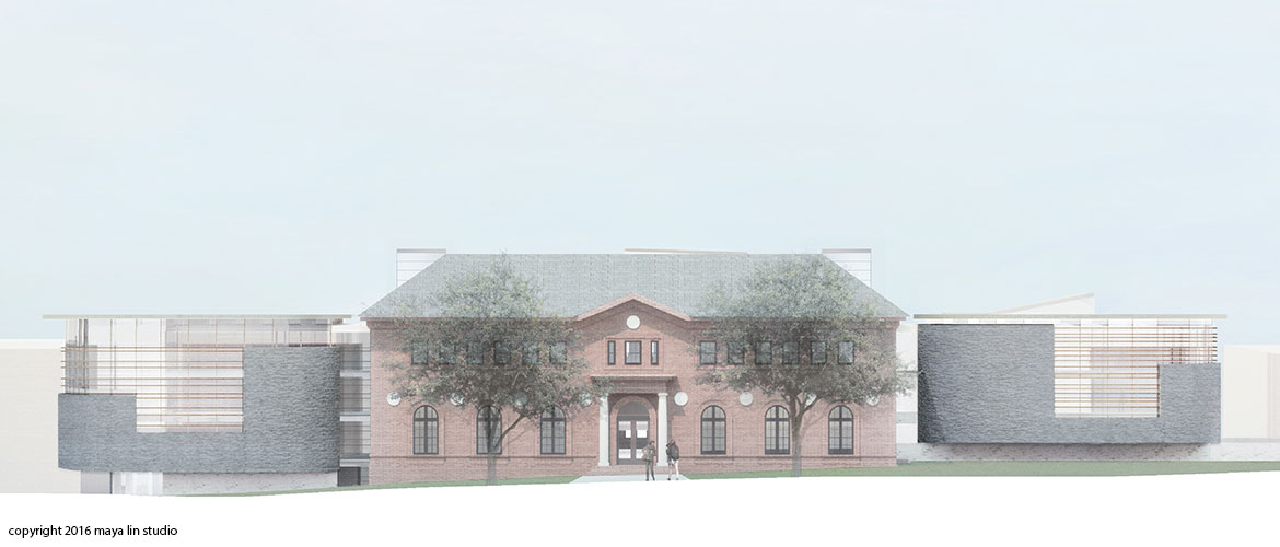 Maya Lin design for New Neilson Library east elevation