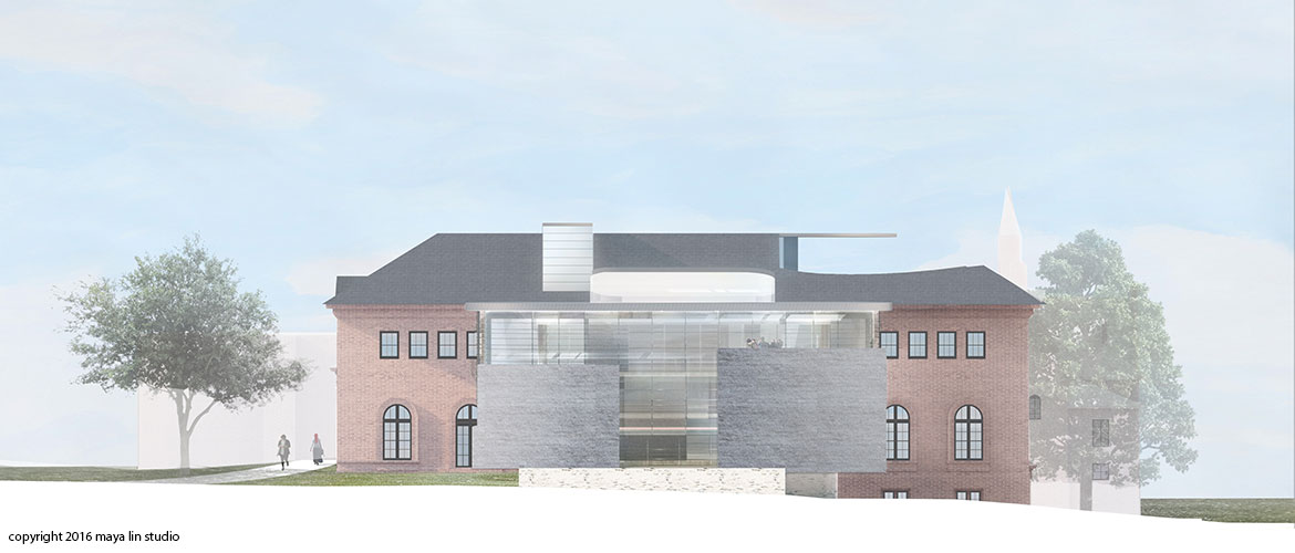 Maya Lin design for New Neilson Library north elevation
