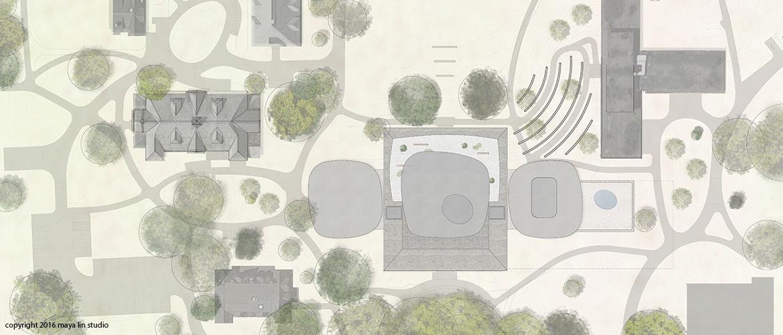 Maya Lin design for New Neilson Library siteplan