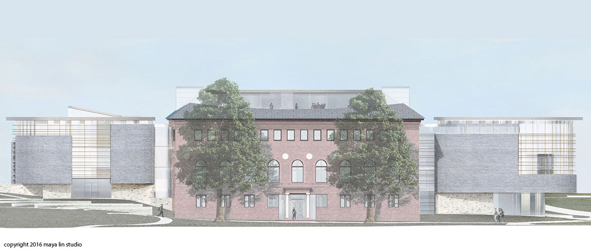 Maya Lin design for New Neilson Library west elevation