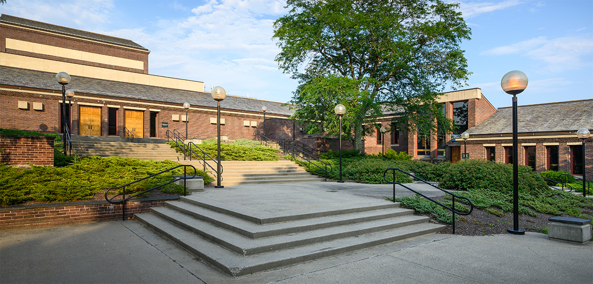 Exterior of the Mendenhall Center for the Performing Arts