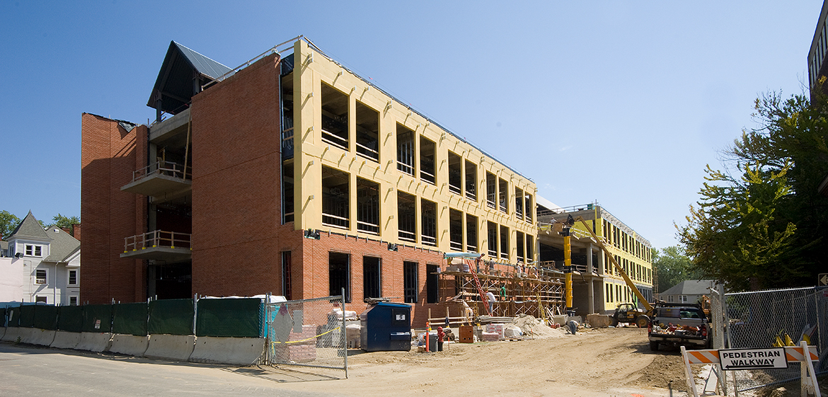 Construction of Ford Hall
