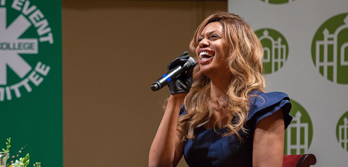 Laverne Cox speaking at Smith
