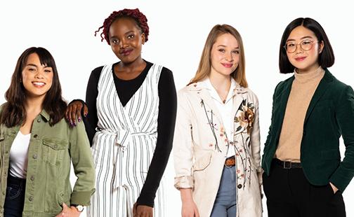 Jackie Richardson '21, Grace Irungu '20, Madeline Turner '21, and Nancy Jung '20