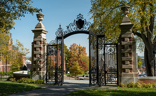 Grecourt Gates in the fall