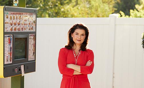 Claudia San Pedro '91, president of Sonic Corp.