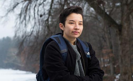 Diana Umana on the Smith campus