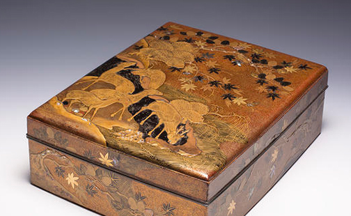 Black lacquered writing box from the exhibition