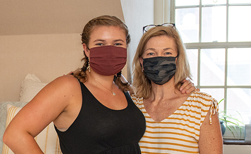 a mother and daughter on move-in day