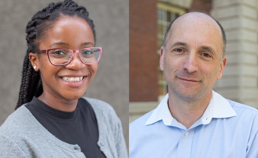 Smith professors Anna Mwabe '10 and Howard Gold