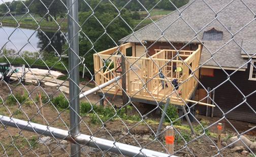 Crew House under construction