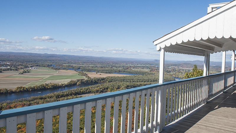 View of the valley from the Summit House in Hadley
