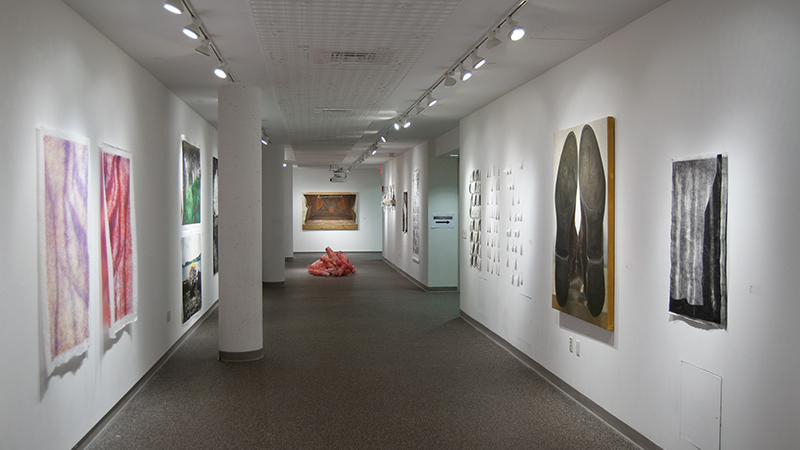 Photo of Jannotta student art gallery