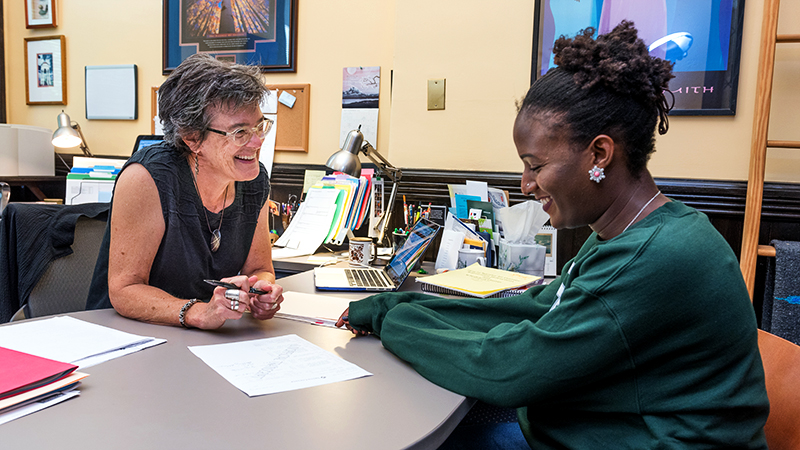 Dean Stangl with student