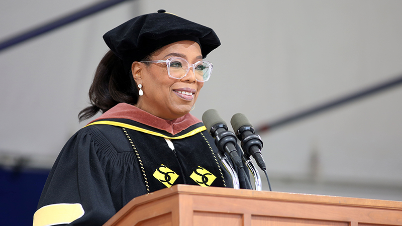 2017 Commencement speaker Oprah Winfrey