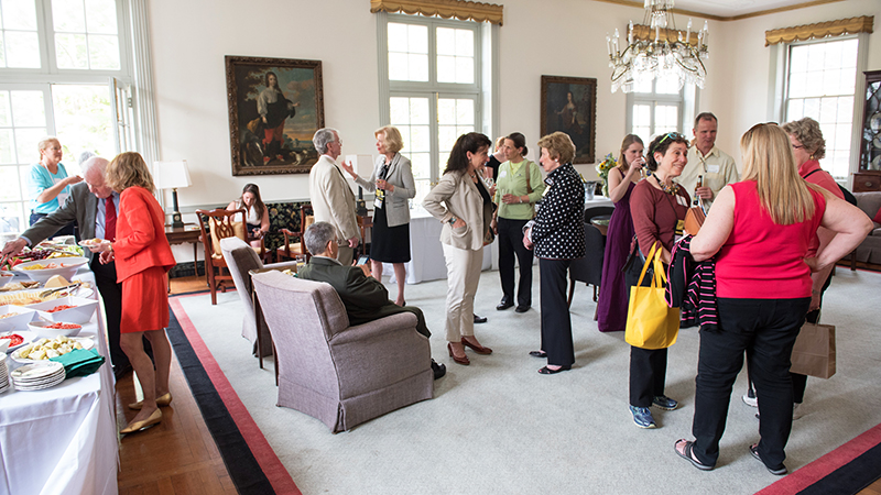 Alumnae House living room reception