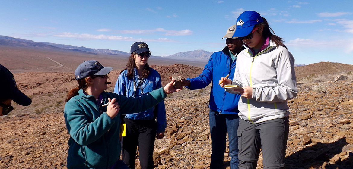Students in Field Studies of the Southwest collecting samples near Death Valley