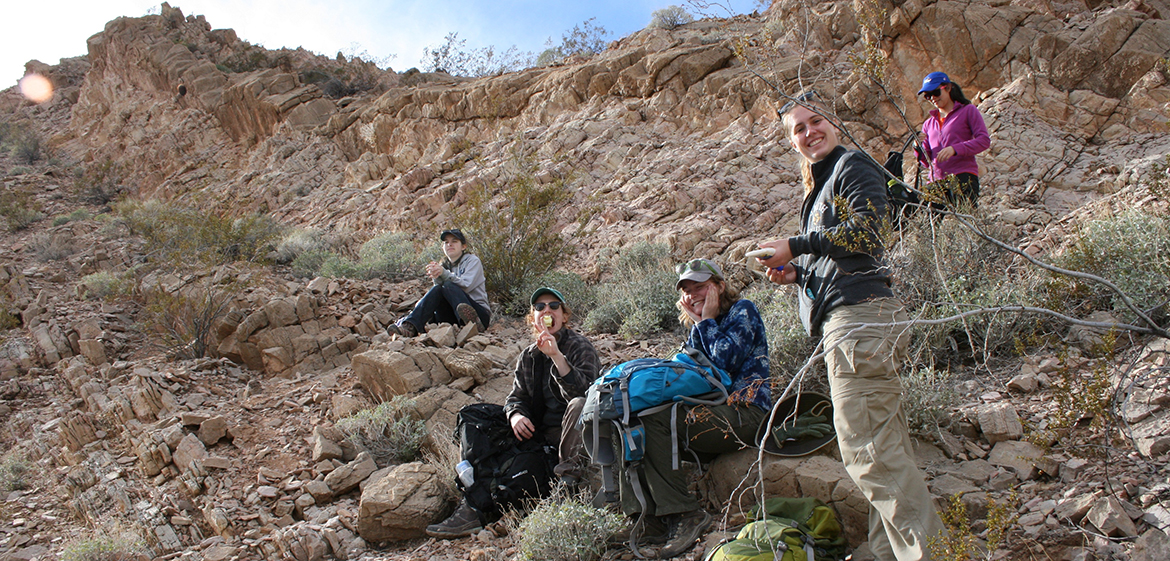Field Studies of the Southwest students collecting samples from the Triassic, Muddy Mountains, Nevada