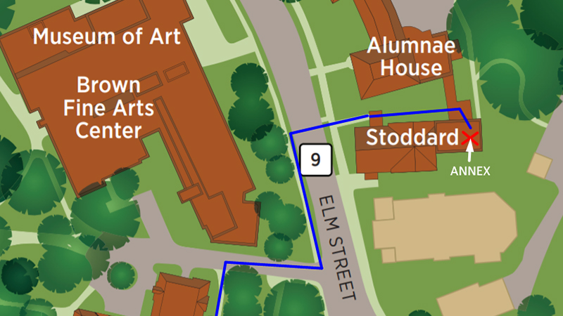 Map to Stoddard Annex