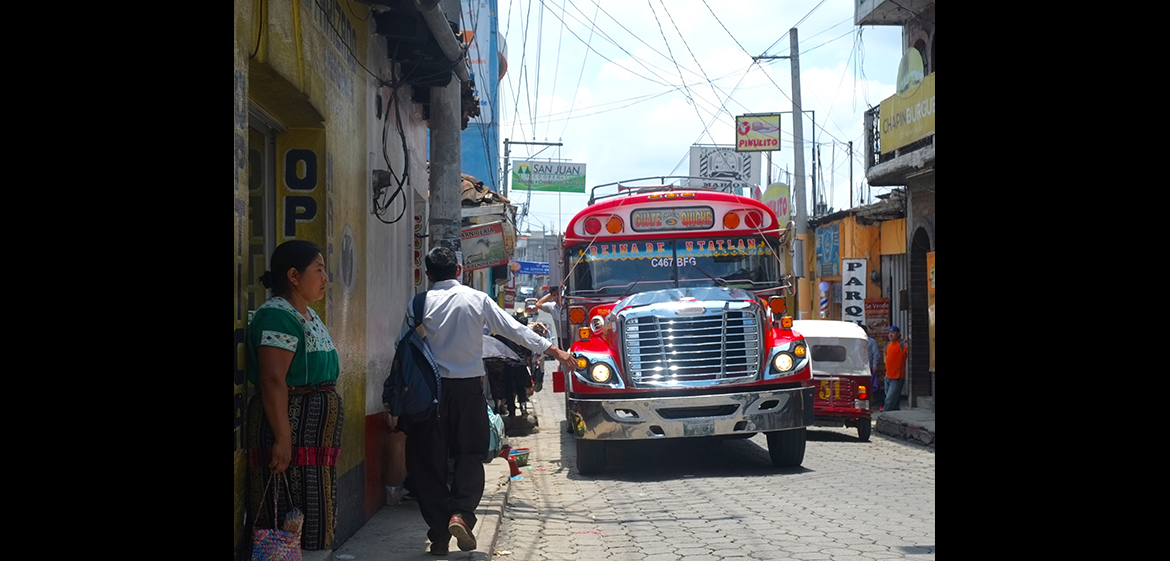 Photo of a street scene in Guatamala