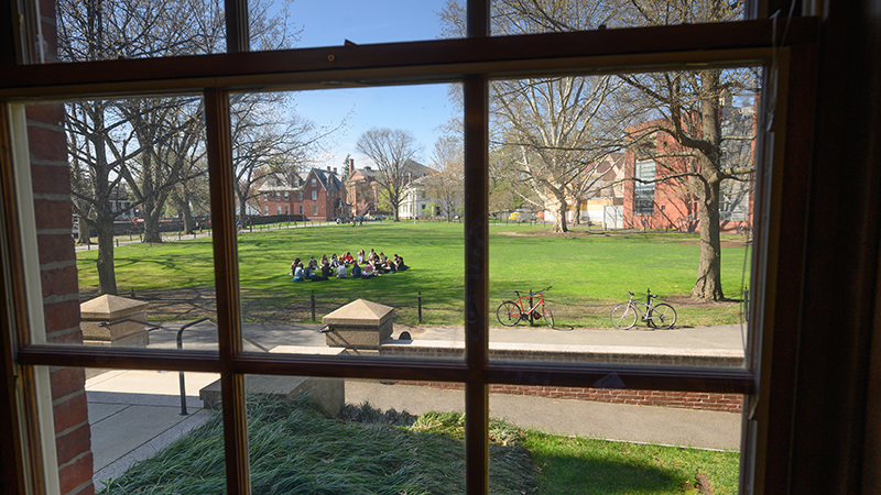 Image of students outside in class