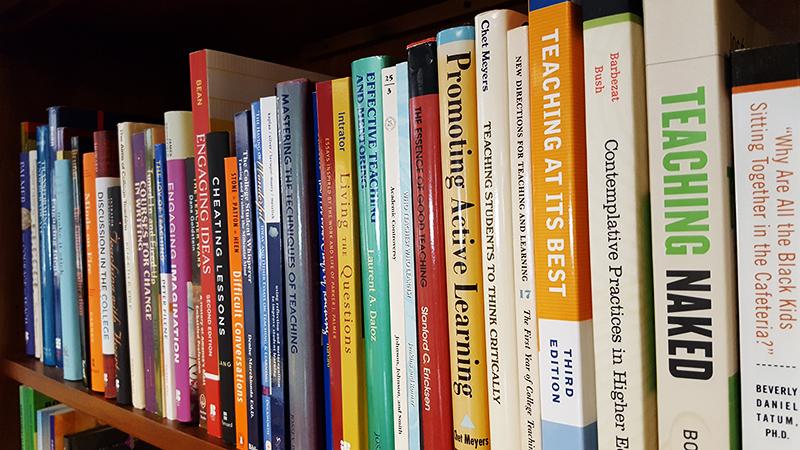 Photo of the Sherrerd Center Teaching Resource Library