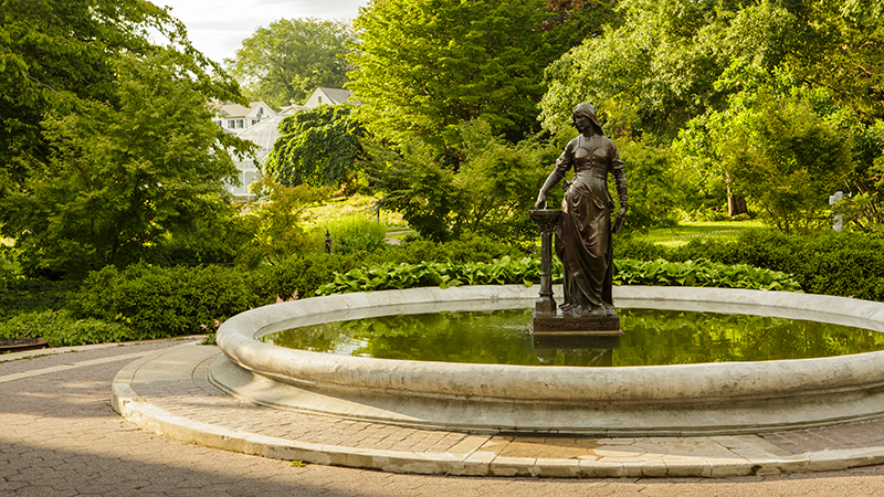 The Lanning Fountain on the Smith College campus