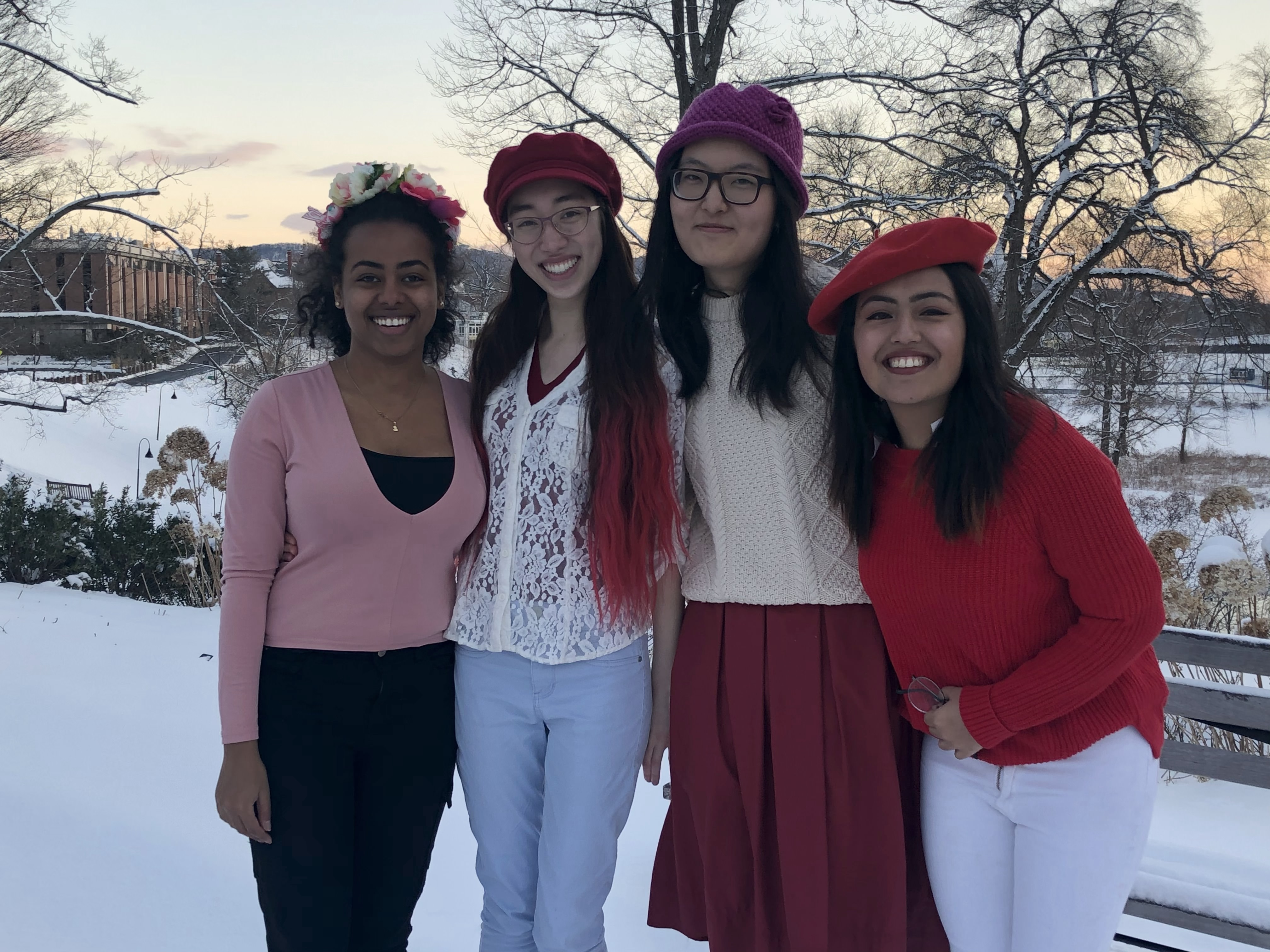From left to right: University Innovation Fellows - Beth Yigzaw, Isabelle Hodge, Emma Sui, and Asmita Gautam.