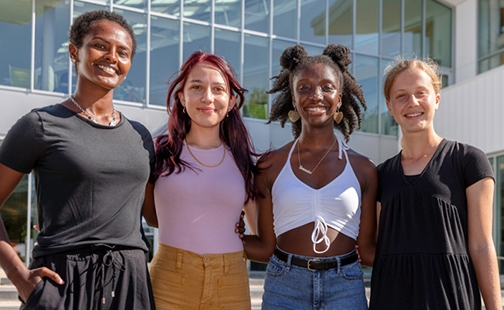 Four student members of the Advocacy for Equity Council; photo taken on September 3, 2021