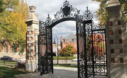 an image of the Grecourt Gates in the fall
