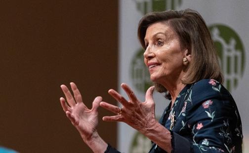 US House Speaker Nancy Pelosi at her Presidential Colloquium
